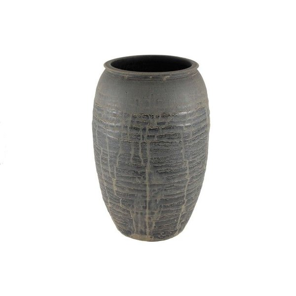 HS Potterie Zwart Antiek Vaas Antas