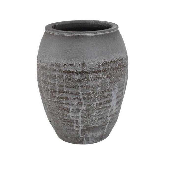 HS Potterie Antiek Bruine Vaas Antas