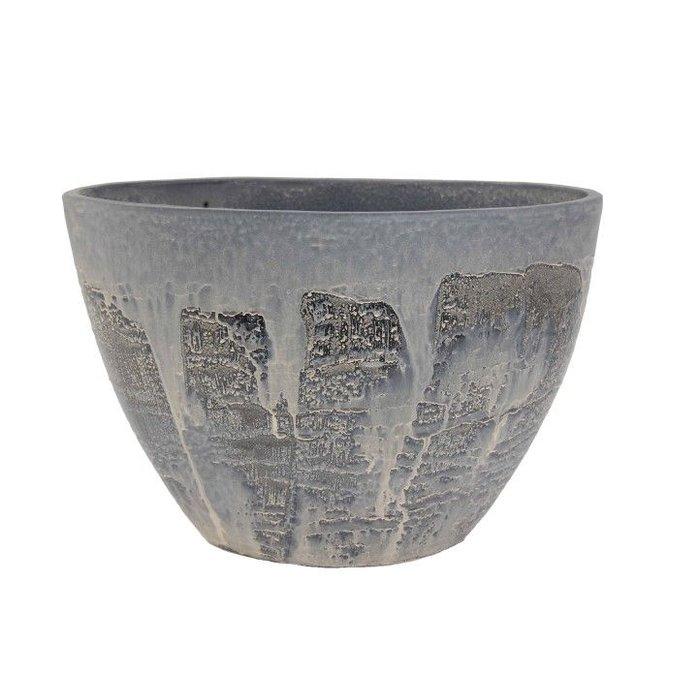 HS Potterie Antiek Zwarte Ovale Pot Antas