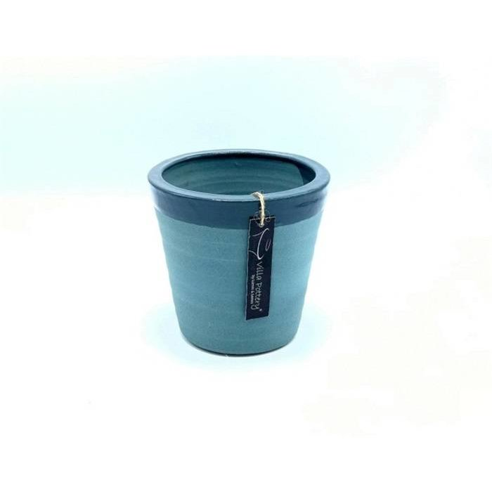 Villa Pottery  Blauw  Pot Bretagne