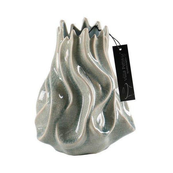 Villa Pottery  Tortile Grijze Vaas 14x20