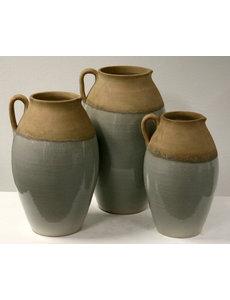 Villa Pottery  Grijze kruik / vaas Norwich