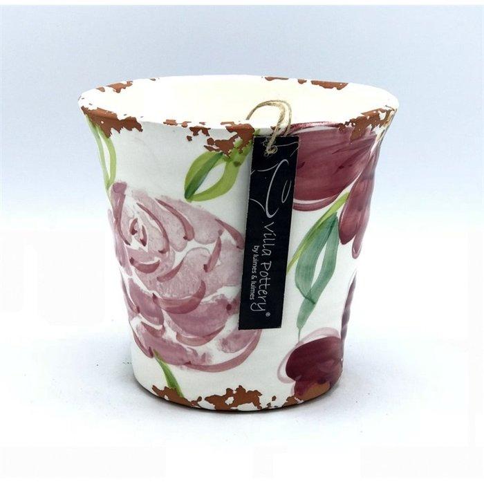 Villa Pottery  Roze Pot Flowergarden