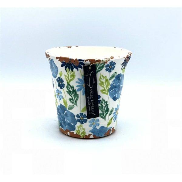 Villa Pottery  Blauw-Groen Pot Flowergarden