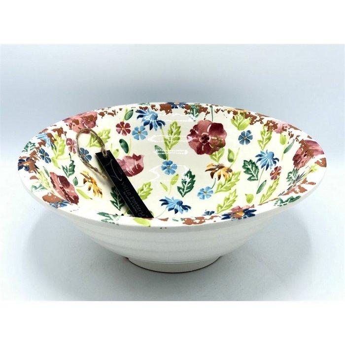 Villa Pottery  Gekleurde Schaal Flowergarden