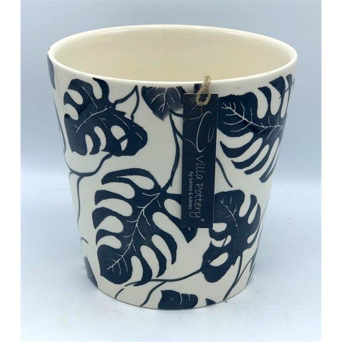 Villa Pottery  Flowerpot Zwart Blad