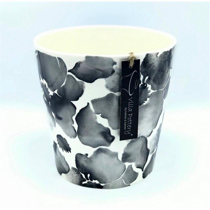 Villa Pottery  Flowerpot Zwarte Bloem
