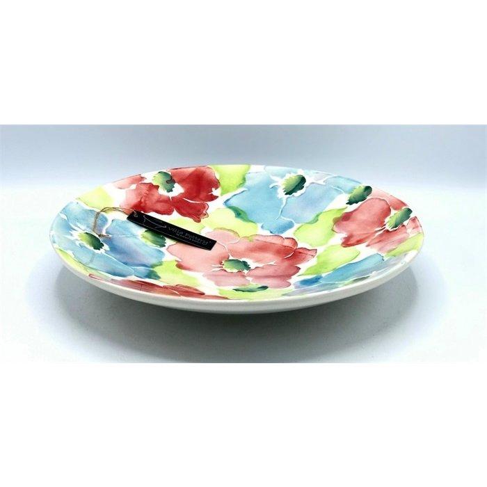 Villa Pottery  Flowerplate Gekleurde Bloemen