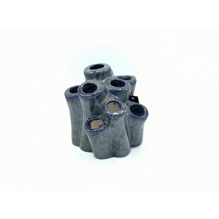 Villa Pottery  Blauwe Vaas Evi