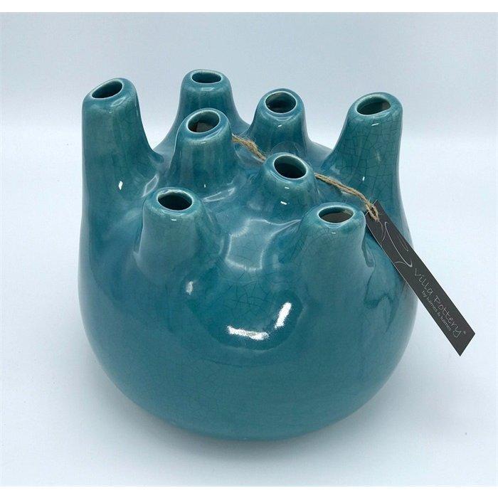 Villa Pottery  Blauwe Vaas Isabelle