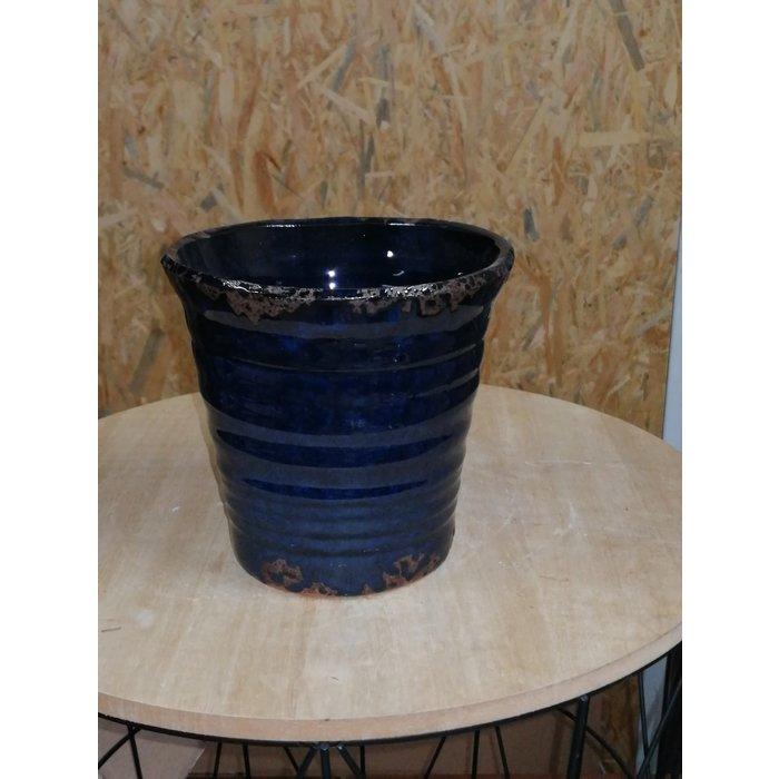 Villa Pottery  Donker Blauwe Pot Flowergarden