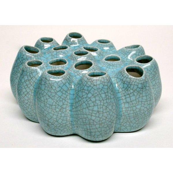 Villa Pottery  Pompom Light Blue - 35x35x15