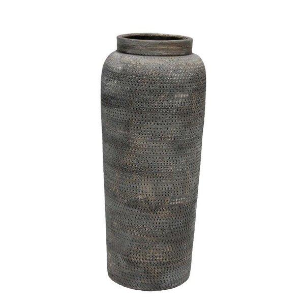 HS Potterie Grijze vaas Praag 19x45