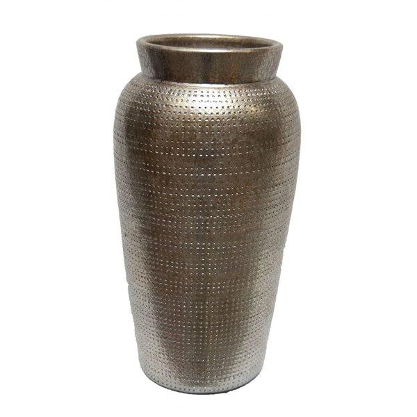 HS Potterie Zilver Goud vaas Marrakesh 18x35 per set van 2