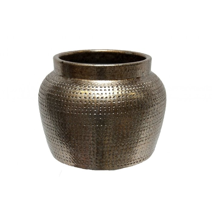 HS Potterie Zilver Goud pot Marrakesh, set van 2