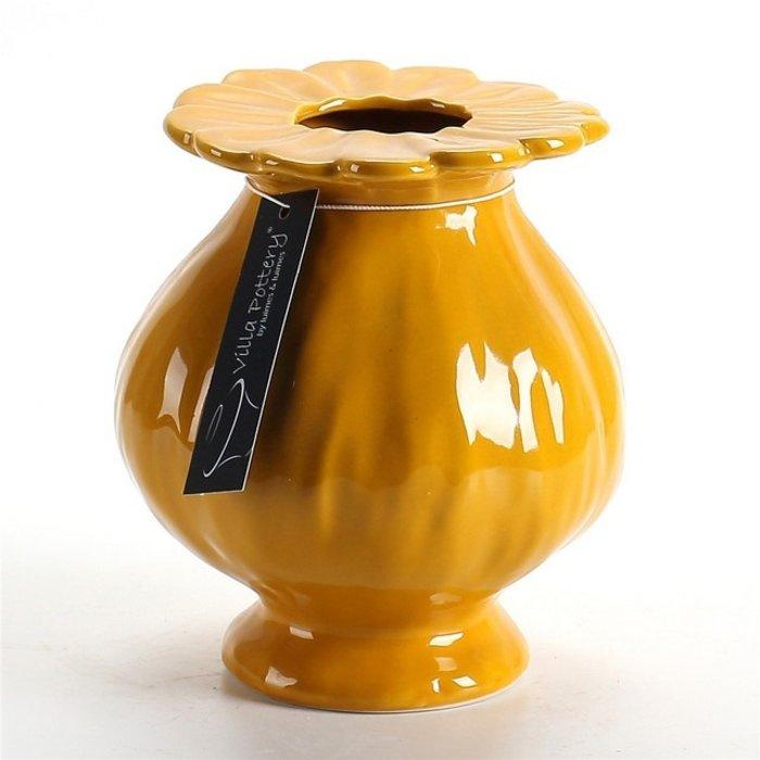 Villa Pottery  Gele vaas Sophie
