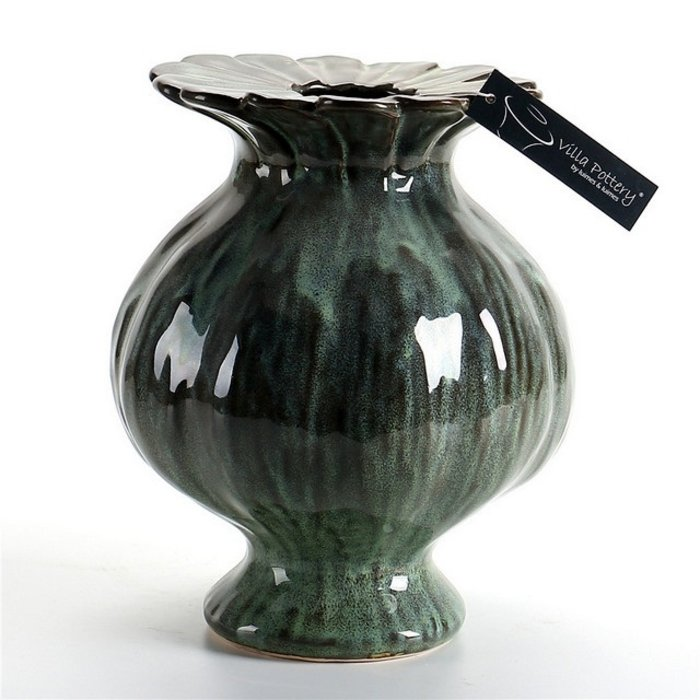 Villa Pottery  Groene vaas Sophie