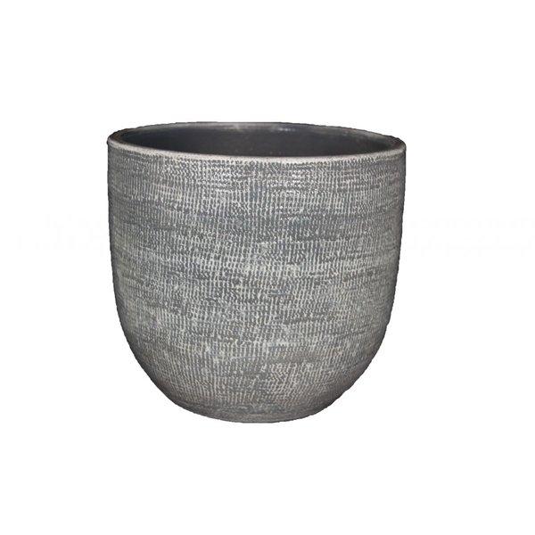 HS Potterie Grijze Pot Stockholm 24x22 / set van 2