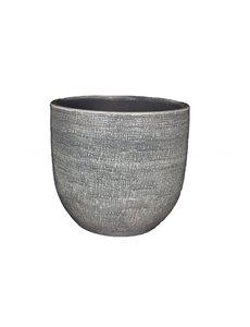 HS Potterie Grijze Pot Stockholm 28x26 / set van 2