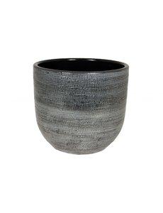HS Potterie Donker Grijze Pot Stockholm D24xH22 / set van 2