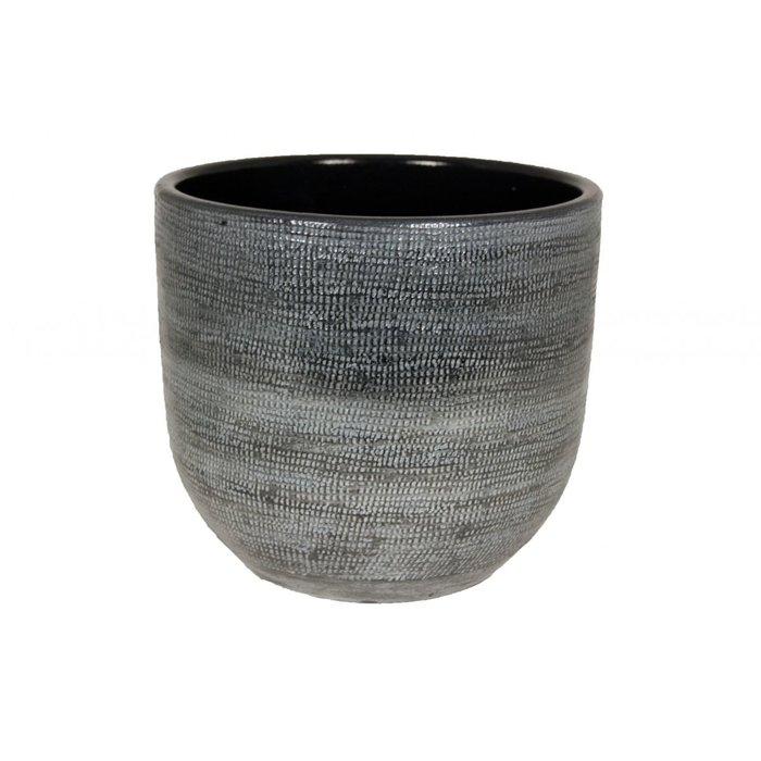 HS Potterie Donker Grijze Pot Stockholm D28xH26 / set van 2