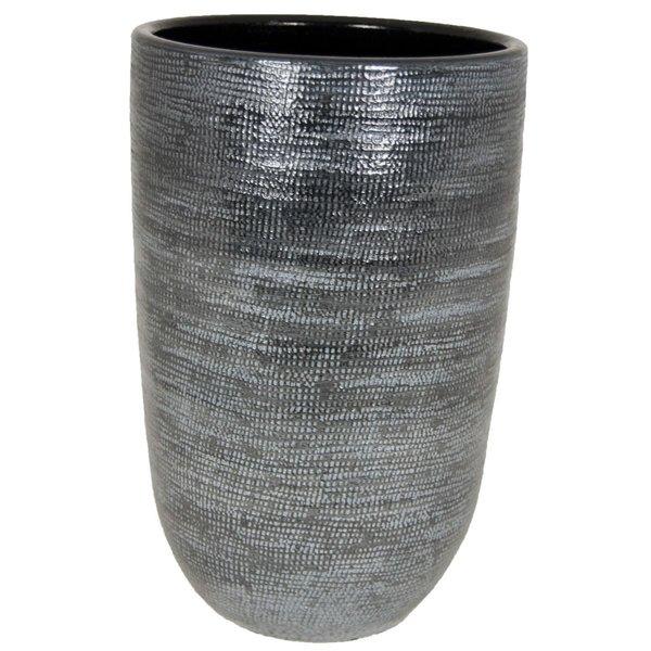 HS Potterie Donker Grijze Vaas/Pot Stockholm