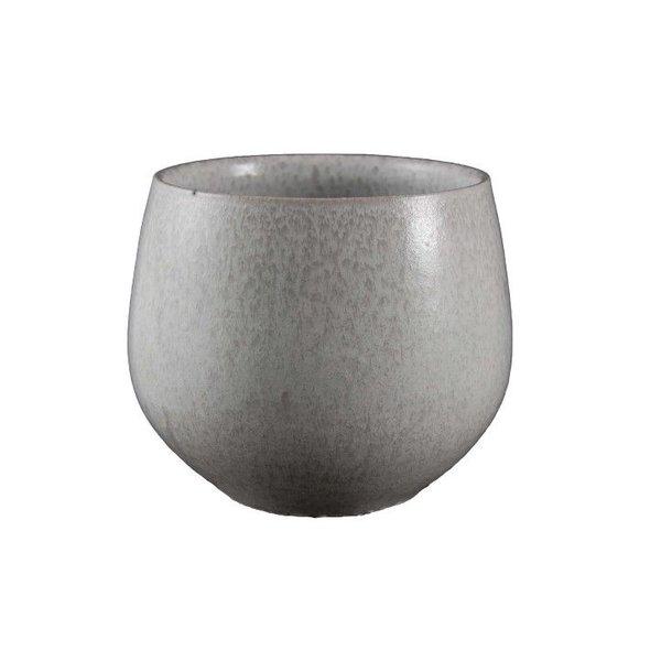 HS Potterie Witte Pot Petra D21xH20 / set van 2