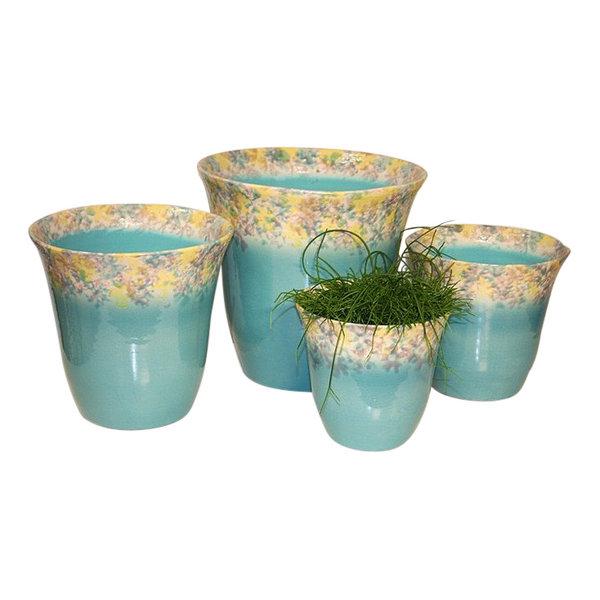 Villa Pottery  Campanula Turquoise Pot