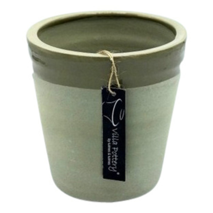 Villa Pottery  Pot Bretagne Groen/Wit
