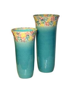 Villa Pottery  Campanula Turquoise Vaas
