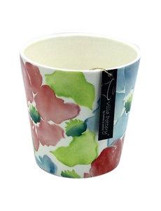 Villa Pottery  Flowerpot Gekleurde Bloemen
