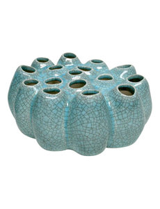 Villa Pottery  Pompom Light Blue