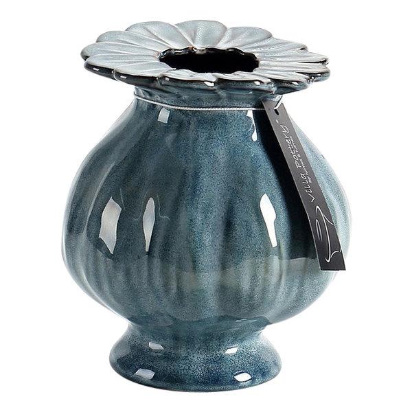 Villa Pottery  Blauwe vaas Sophie