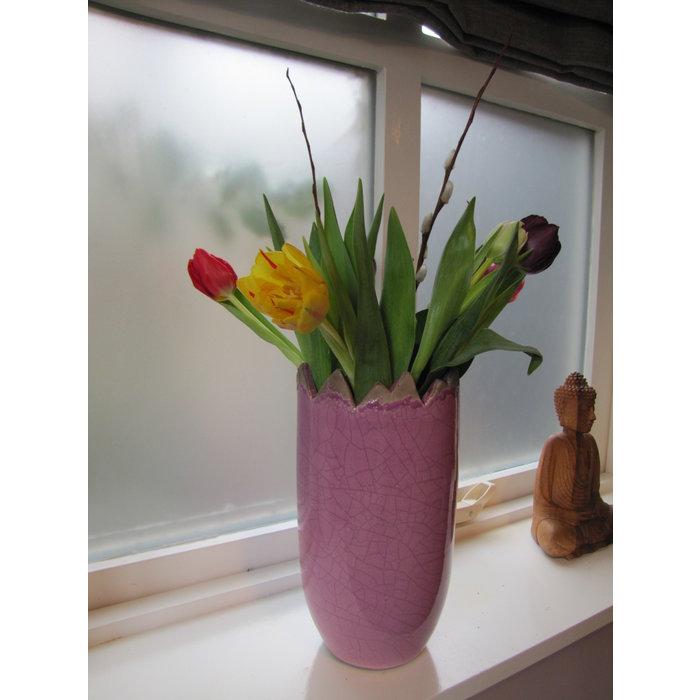 Villa Pottery  Peak Collection Lilac Vaas