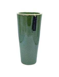 Villa Pottery  Groene Vaas Bastogne - D17xH35
