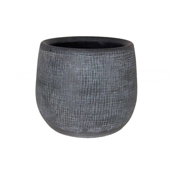 HS Potterie Antraciet Pot Rio D23 x H21, set van 2