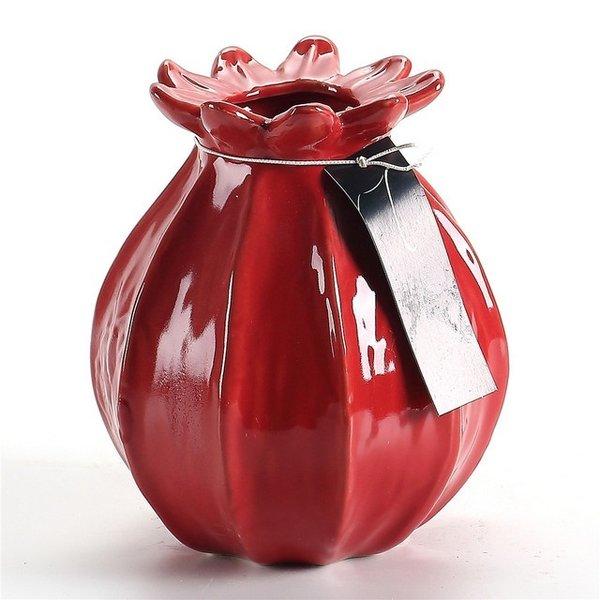Villa Pottery  Wijn rode vaas Vigo