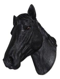 Villa Pottery  Paardenhoofd Wanddecoratie -Paard - Zwart