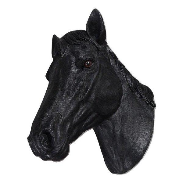 Villa Pottery  Paardenhoofd Wanddecoratie - Paard - Zwart