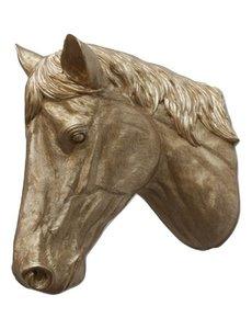Villa Pottery  Paardenhoofd Wanddecoratie -Paard - Goud