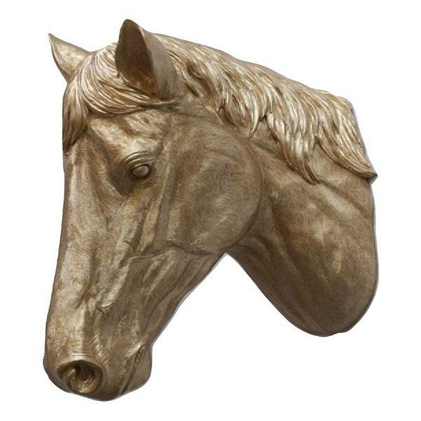 Villa Pottery  Paardenhoofd Wanddecoratie - Paard - Goud