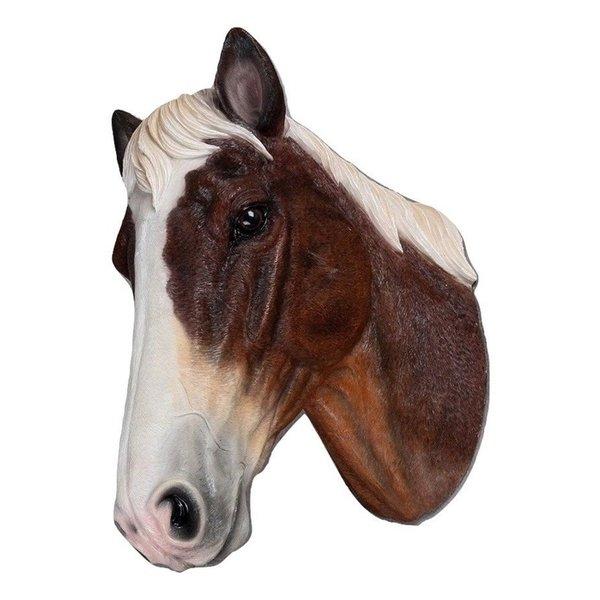 Villa Pottery  Paardenhoofd Wanddecoratie - Paard - Bruin Wit
