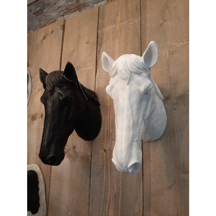 Decopots - Villa Pottery Paardenhoofd Wanddecoratie - Paard - Zwart