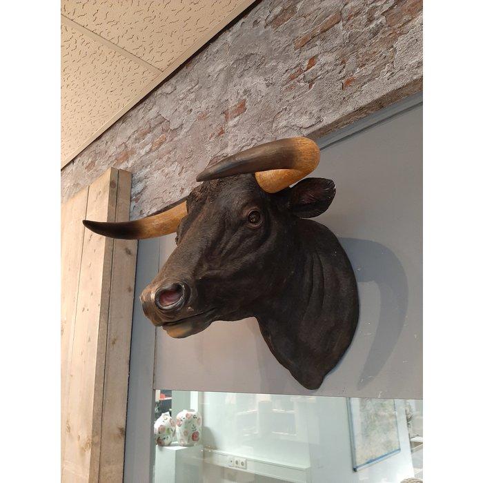 Decopots - Villa Pottery Stierenkop Wanddecoratie -Stier - Zwart