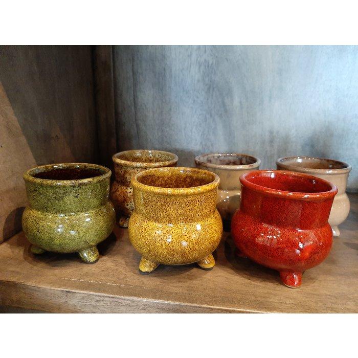 Villa Pottery  Coco potten, set van 6 multi color