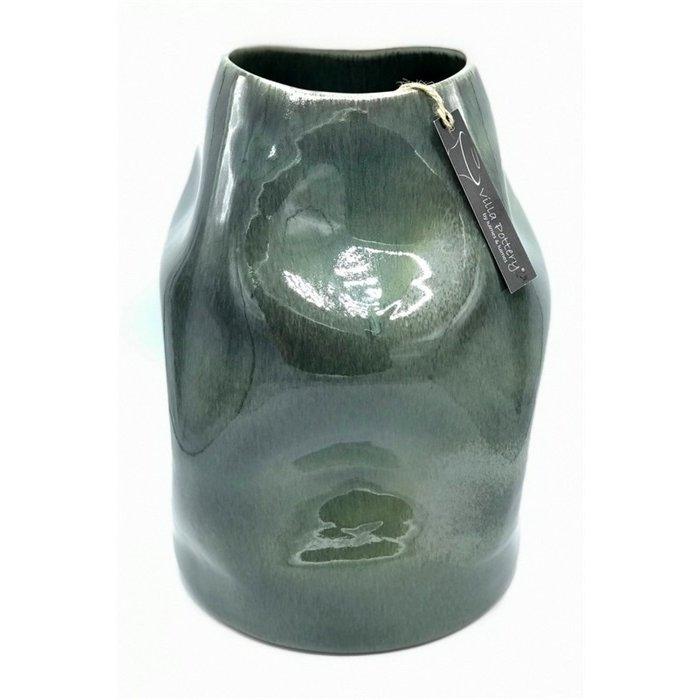 Villa Pottery  Genk Vaas Donker Groen D25xH37