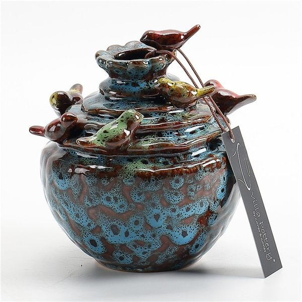 Villa Pottery  Blauwe vaas Grenada