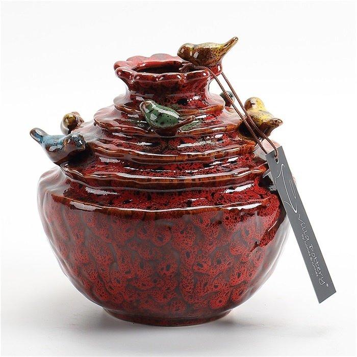 Villa Pottery  Rode vaas Grenada