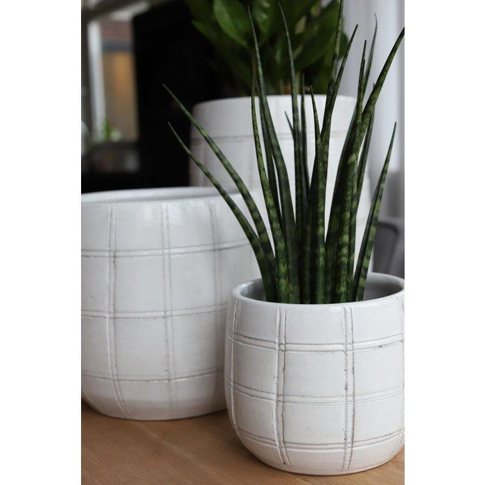 HS Potterie Industrieel Witte Vaas/Pot Nairobi