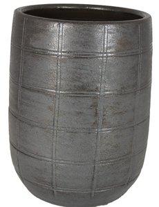 HS Potterie Industrieel Zwart Vaas/Pot Nairobi